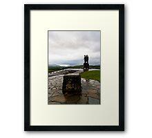 Commando Monument Framed Print