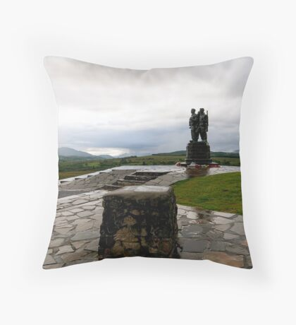 Commando Monument Throw Pillow