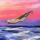 The Saunders-Roe SR.45 Princess iPad/iPhone/Samsung cases by Dennis Melling
