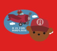 """ABC Bears """"A is for Airplane"""" One Piece - Short Sleeve"""