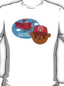 """ABC Bears """"A is for Airplane"""" T-Shirt"""