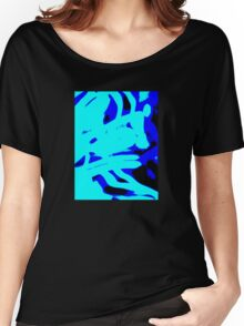 Blue Light Wave,abstract Women's Relaxed Fit T-Shirt