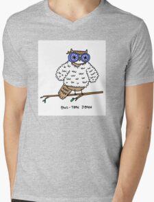 Owl-ton John Mens V-Neck T-Shirt