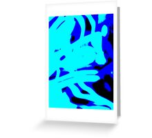 Blue Light Wave,abstract Greeting Card