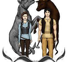 Arya and Gendry - ASOIAF by CapricaPuddin