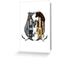 Arya and Gendry - ASOIAF Greeting Card