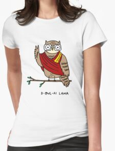 D-owl-ai Lama Womens Fitted T-Shirt