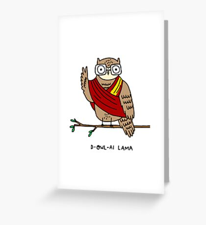 D-owl-ai Lama Greeting Card