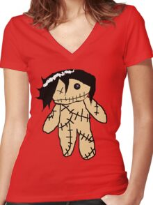 Bassy Doll Women's Fitted V-Neck T-Shirt