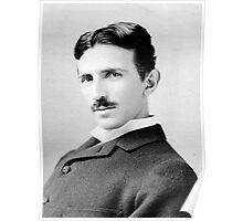 Nikola Tesla Portrait Poster