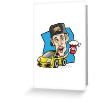 RED CUP Justin Bieber #redcupcrew Greeting Card