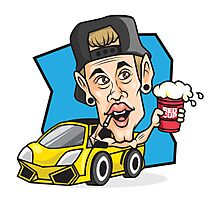 RED CUP Justin Bieber #redcupcrew Photographic Print