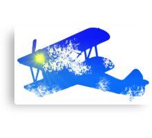 Sky Biplane Canvas Print