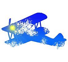 Sky Biplane Photographic Print