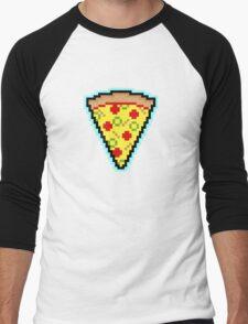 Pixel Pizza Men's Baseball ¾ T-Shirt