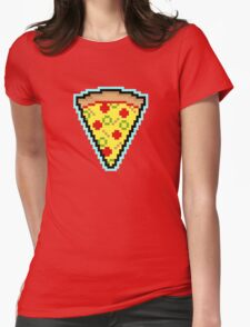 Pixel Pizza Womens Fitted T-Shirt