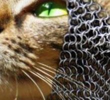 God wills it - Kitty Cat Crusader Sticker