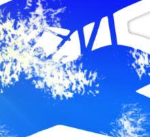Sky Biplane Sticker