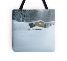 My Van is Somewhere Under That Snow.... Tote Bag