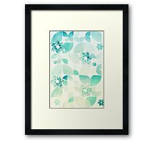 Flowers and Snowflakes Framed Print