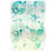 Flowers and Snowflakes Poster