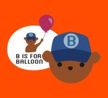 """ABC Bears """"B is for Balloon"""" Kids Tee"""