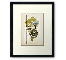 Cubed Nature Framed Print