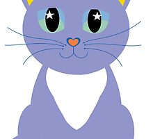 Only Lonely and Blue Cat by Jean Gregory  Evans