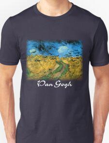Vincent Van Gogh - Wheat Field Under Threatening Skys Unisex T-Shirt