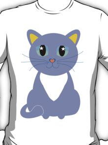 Only Lonely and Blue Cat T-Shirt