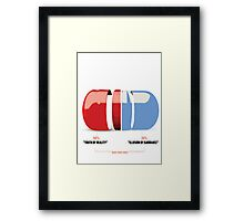 Red or Blue Pill Framed Print