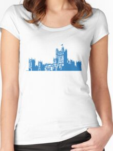 Downton skyline Women's Fitted Scoop T-Shirt