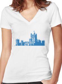 Downton skyline Women's Fitted V-Neck T-Shirt