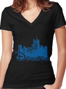 Downton Abbey Again Women's Fitted V-Neck T-Shirt