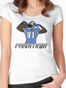 calvin johnson flexing Women's Fitted Scoop T-Shirt