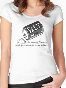 PJSalt V1 (black text) Women's Fitted Scoop T-Shirt