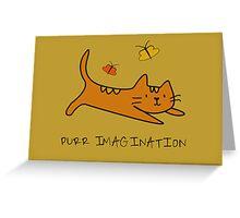 Purr Imagination Greeting Card