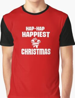 HAP HAP HAPPIEST CHRISTMAS Graphic T-Shirt