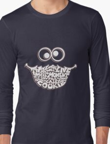 Cookie Monster Typography (white) Long Sleeve T-Shirt