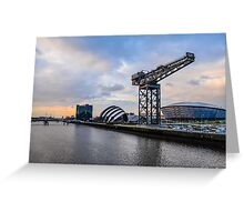 Clydeside Sunset Greeting Card