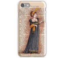 Pride and Prejudice - Caroline Bingley iPhone Case/Skin
