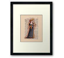Pride and Prejudice - Caroline Bingley Framed Print