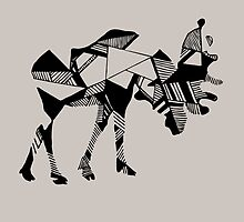 Timid Minimalist Graphic Moose by of Moose  and Men