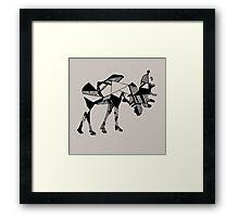 Timid Minimalist Graphic Moose Framed Print