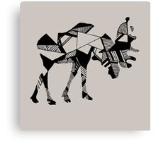 Timid Minimalist Graphic Moose Canvas Print
