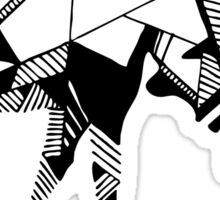 Timid Minimalist Graphic Moose Sticker