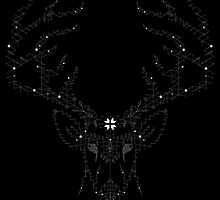 Intricate Stag (white) by charl7otte