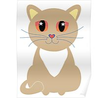One and Only One Cream Colored Kitty Poster