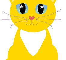 Only One Kitty With Multi-colored Whiskers by Jean Gregory  Evans