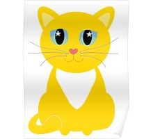 Only One Kitty With Multi-colored Whiskers Poster